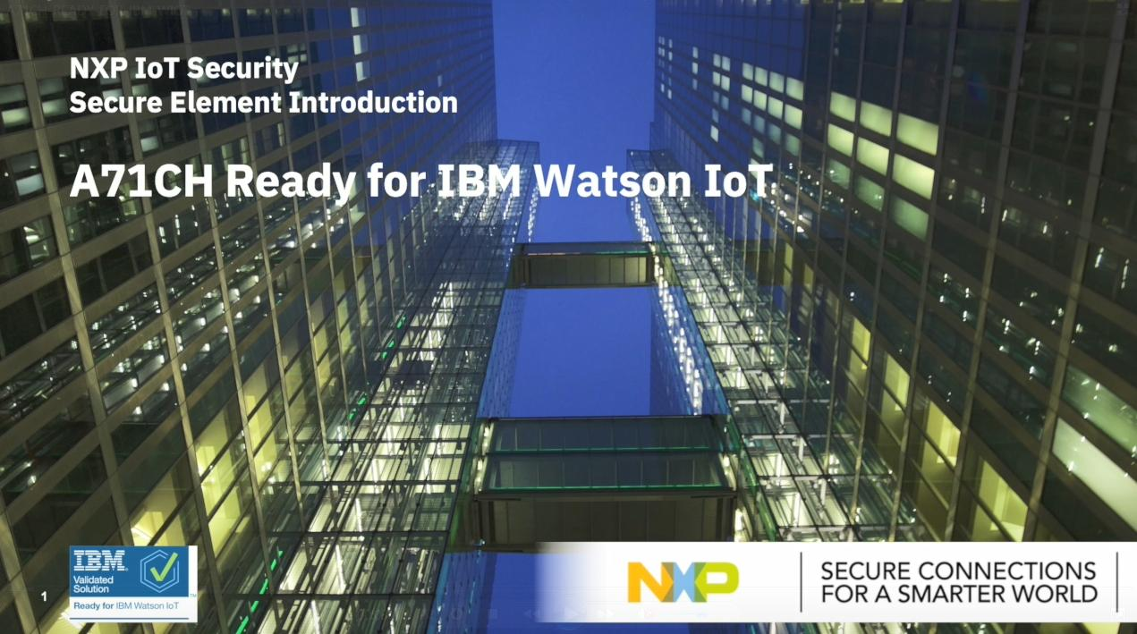 A71CH Ready for IBM Watson IoT<sup>&#174;</sup> Platform thumbnail