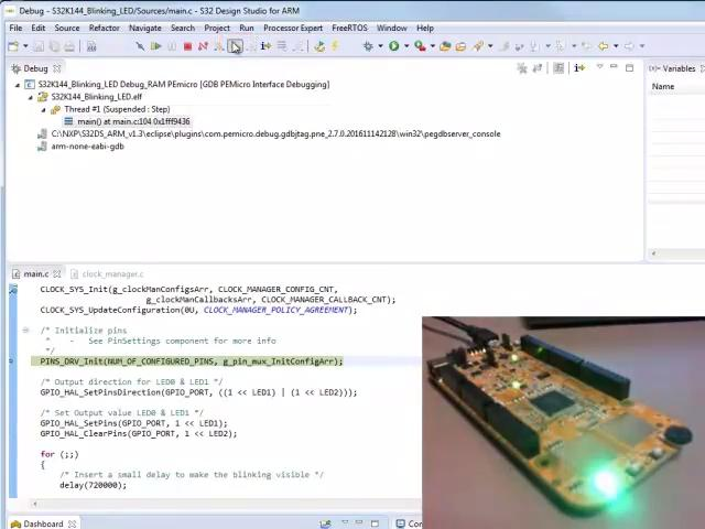 Create and Debug a New Project from Example Code in S32 DS IDE for ARM based MCUs. thumbnail