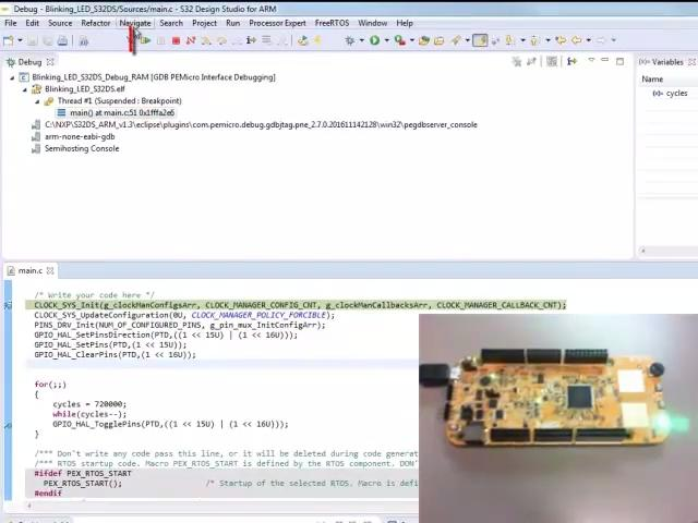 Create and Debug a New Project in S32 DS IDE for ARM based MCUs.  thumbnail