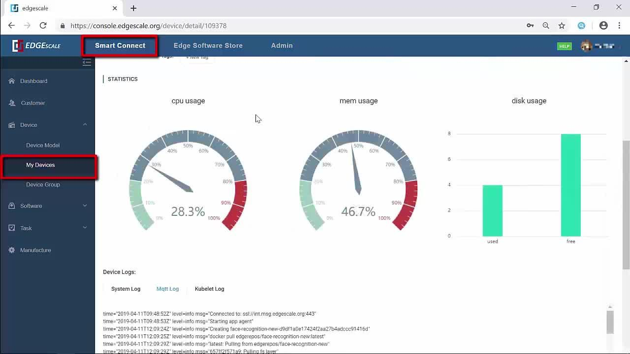 Introduction to managing a fleet of devices via the EdgeScale Dashboard thumbnail